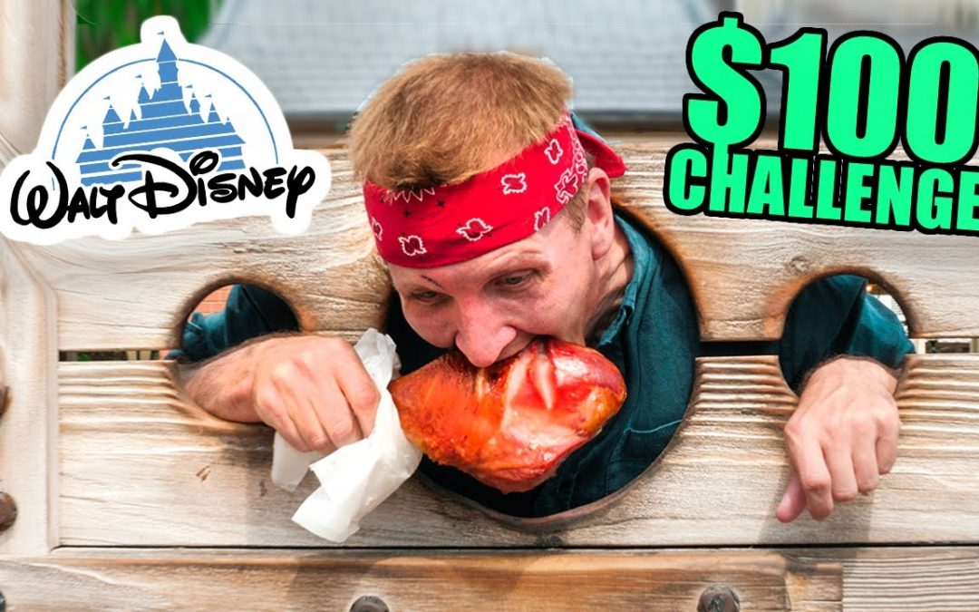 $100 Disney Food Challenge!!! Most EXPENSIVE Food on Earth!!